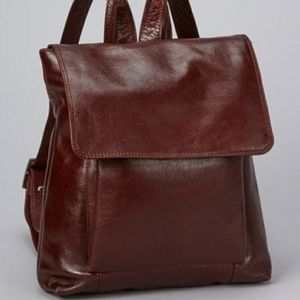 LATICO LEATHER BACKPACK BURGANDY MAROON